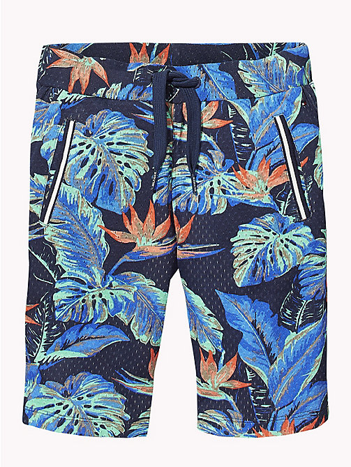 TOMMY HILFIGER Tropical Print Mesh Shorts - BLACK IRIS / MULTI -  Boys - detail image 1