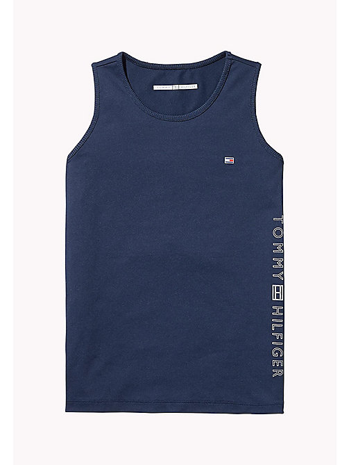 TOMMY HILFIGER SPORTS SINGLET - SKY CAPTAIN/MULTI - TOMMY HILFIGER Sports Capsule - main image