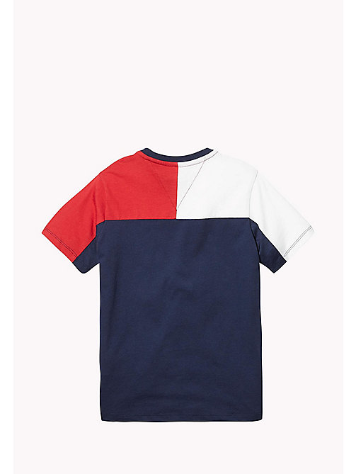 TOMMY HILFIGER SPORTS COLORBLOCK KNIT S/S - SKY CAPTAIN / MULTI - TOMMY HILFIGER Sports Capsule - detail image 1