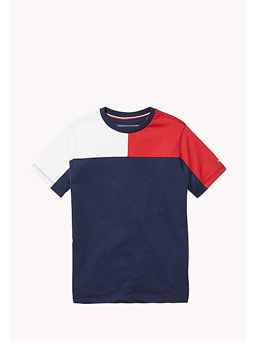 TOMMY HILFIGER SPORTS COLORBLOCK KNIT S/S - SKY CAPTAIN / MULTI - TOMMY HILFIGER Sports Capsule - image principale