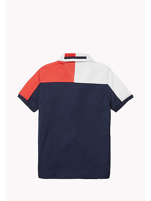TOMMY HILFIGER SPORTS COLORBLOCK POLO S/S - SKY CAPTAIN / MULTI - TOMMY HILFIGER Sports Capsule - detail image 1