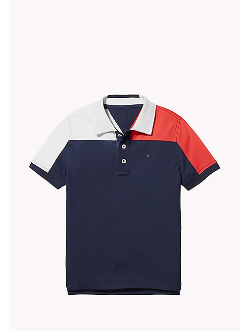 TOMMY HILFIGER SPORTS COLORBLOCK POLO S/S - SKY CAPTAIN / MULTI - TOMMY HILFIGER Sports Capsule - main image