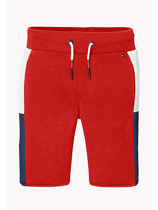 TOMMY HILFIGER SPORTS GLOBAL STRIPE SWEATSHORTS - HAUTE RED - TOMMY HILFIGER Sports Capsule - main image