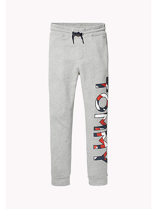 TOMMY HILFIGER SPORTS TOMMY SWEATPANTS - LIGHT GREY HTR - TOMMY HILFIGER Pantalons & Shorts - image principale