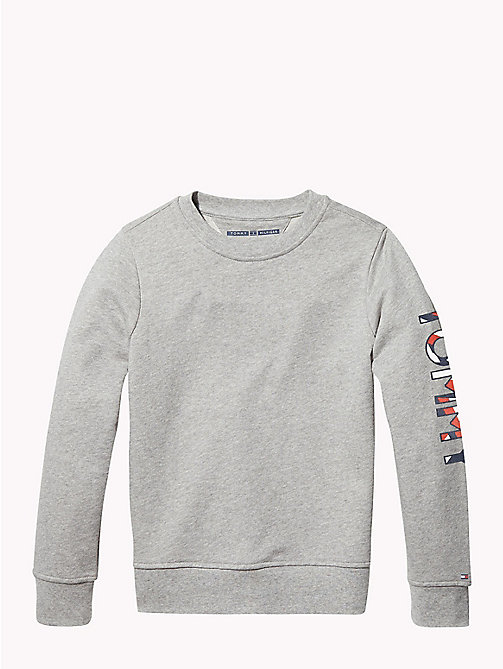 TOMMY HILFIGER SPORTS TOMMY SWEATSHIRT - LIGHT GREY HTR - TOMMY HILFIGER Sports Capsule - image principale