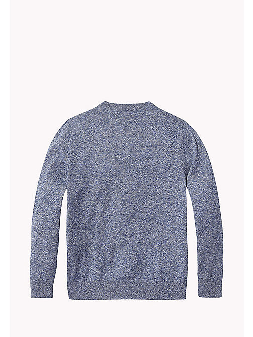 TOMMY HILFIGER Cotton Crew Neck Jumper - BLACK IRIS - TOMMY HILFIGER Knitwear - detail image 1