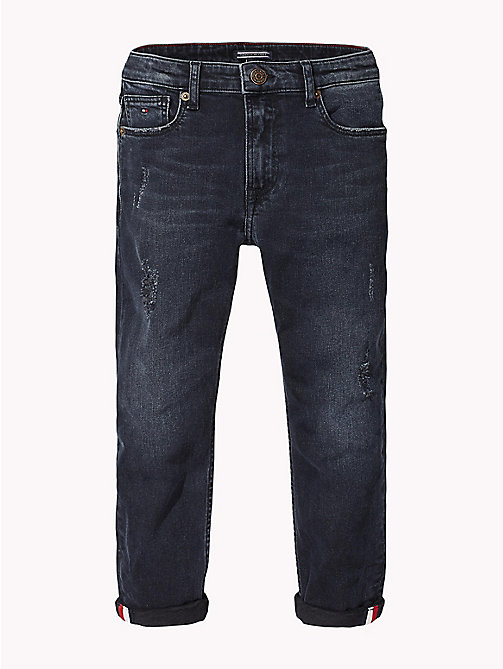 TOMMY HILFIGER Distressed Relaxed Fit Jeans - MOORE BLUE BLACK STRETCH - TOMMY HILFIGER Jeans - main image