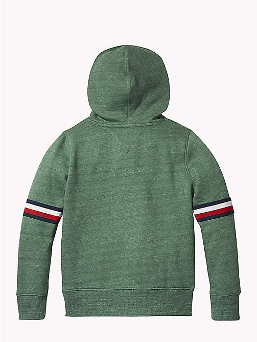 Signature Sleeve Hoody - HUNTER GREEN MELANGE - TOMMY HILFIGER Sweatshirts & Hoodies - detail image 1