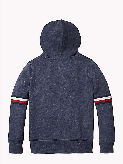 TOMMY HILFIGER Signature Sleeve Hoody - BLACK IRIS HEATHER - TOMMY HILFIGER Sweatshirts & Hoodies - detail image 1