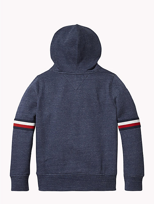 TOMMY HILFIGER Signature Sleeve Hoody - BLACK IRIS HEATHER - TOMMY HILFIGER Boys - detail image 1