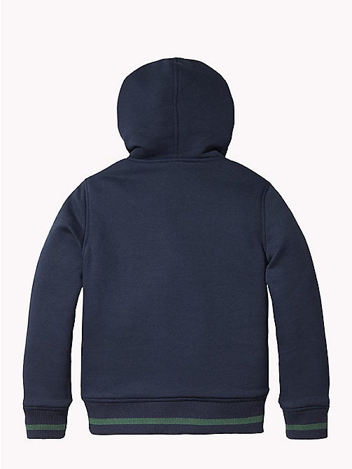 TOMMY HILFIGER Reversible Hooded Fleece Jacket - BLACK IRIS - TOMMY HILFIGER Boys - detail image 1