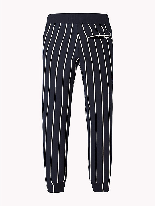 TOMMY HILFIGER Stripe Drawstring Joggers - BLACK IRIS / BRIGHT WHITE - TOMMY HILFIGER Trousers & Shorts - detail image 1