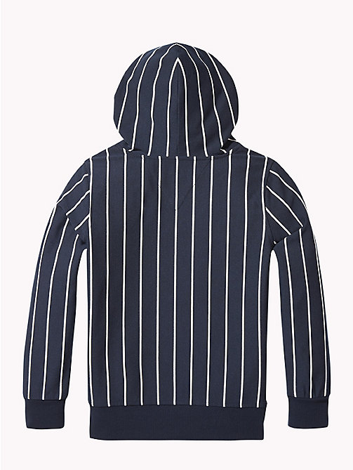 TOMMY HILFIGER Stripe Hoody - BLACK IRIS / BRIGHT WHITE - TOMMY HILFIGER Boys - detail image 1