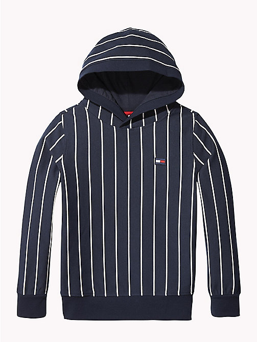 TOMMY HILFIGER Stripe Hoody - BLACK IRIS / BRIGHT WHITE - TOMMY HILFIGER Sweatshirts & Hoodies - main image