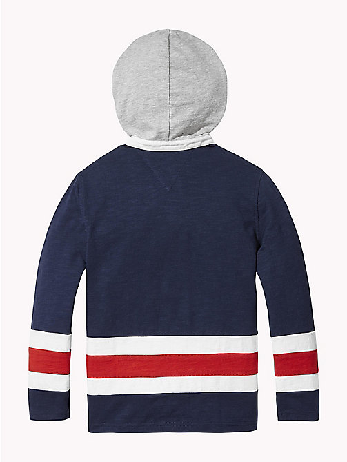TOMMY HILFIGER Colour-Blocked Rugby Hoody - BLACK IRIS - TOMMY HILFIGER Boys - detail image 1