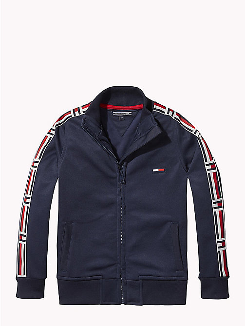 TOMMY HILFIGER Flag Print Zip-Thru Sweatshirt - BLACK IRIS - TOMMY HILFIGER Sweatshirts & Hoodies - main image