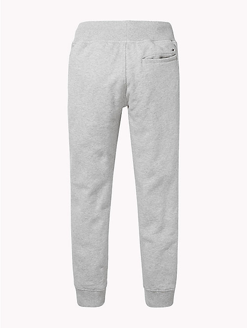 TOMMY HILFIGER Fleece Tommy Hilfiger Logo Joggers - GREY HEATHER - TOMMY HILFIGER Trousers & Shorts - detail image 1