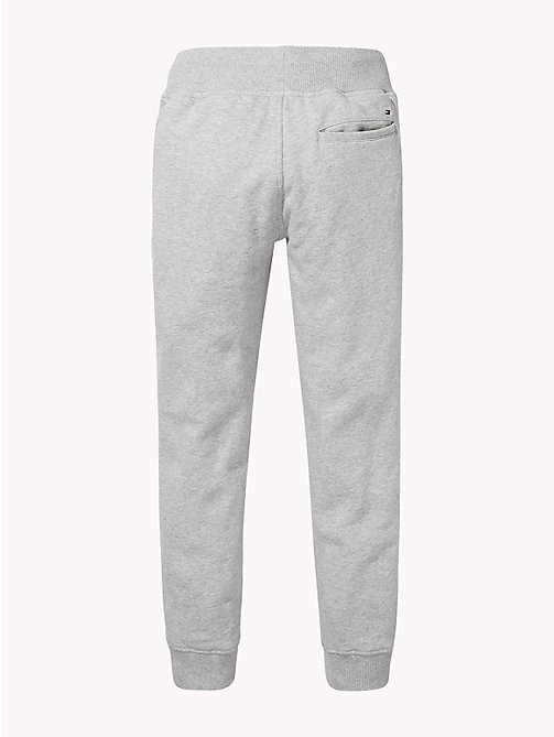 TOMMY HILFIGER Fleece joggingbroek met Tommy Hilfiger-logo - GREY HEATHER - TOMMY HILFIGER Broeken - detail image 1