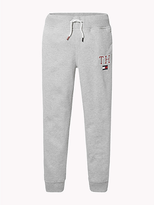 TOMMY HILFIGER Fleece joggingbroek met Tommy Hilfiger-logo - GREY HEATHER - TOMMY HILFIGER Broeken - main image