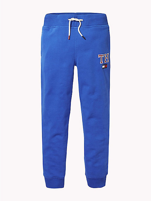 TOMMY HILFIGER Fleece Tommy Hilfiger Logo Joggers - OLYMPIAN BLUE - TOMMY HILFIGER Trousers & Shorts - main image