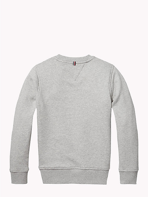 TOMMY HILFIGER Essentials sweatshirt met vlag - GREY HEATHER - TOMMY HILFIGER Sweatshirts & Hoodies - detail image 1