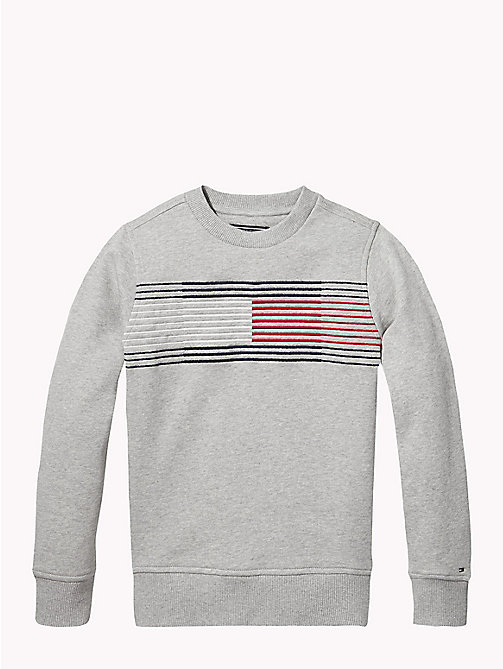 TOMMY HILFIGER Essential Flag-Sweatshirt - GREY HEATHER - TOMMY HILFIGER Sweatshirts & Kapuzenpullover - main image