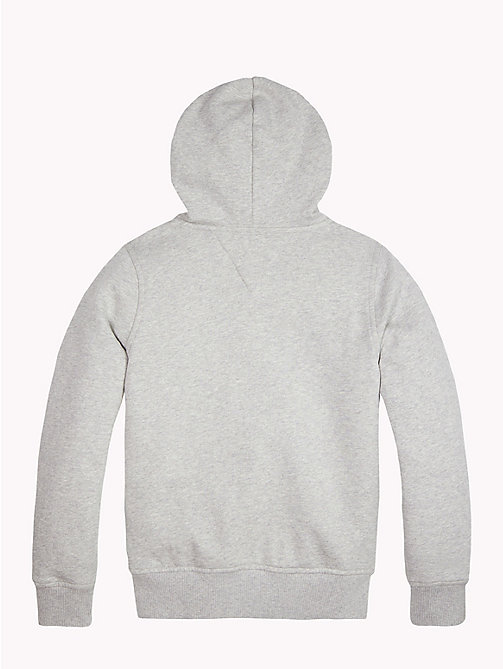 TOMMY HILFIGER ESSENTIAL HILFIGER ZIP HOODIE - GREY HEATHER - TOMMY HILFIGER Свитшоты и худи - подробное изображение 1