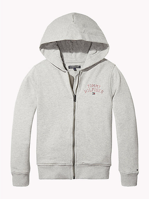 TOMMY HILFIGER ESSENTIAL HILFIGER ZIP HOODIE - GREY HEATHER - TOMMY HILFIGER Свитшоты и худи - главное изображение