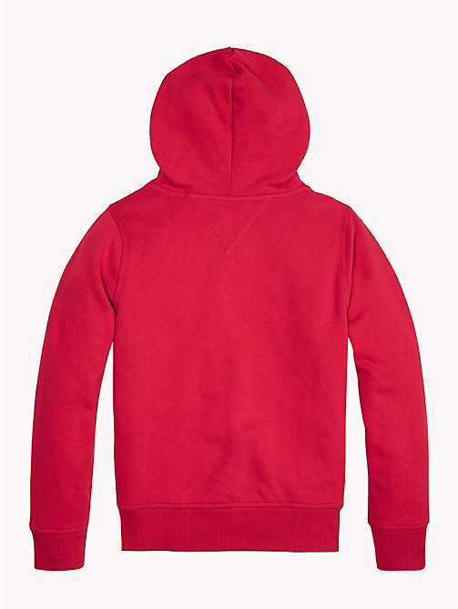 TOMMY HILFIGER Essentials Zip Hoody - APPLE RED - TOMMY HILFIGER Sweatshirts & Hoodies - detail image 1