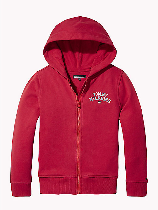 TOMMY HILFIGER Essentials hoodie met rits - APPLE RED - TOMMY HILFIGER Sweatshirts & Hoodies - main image