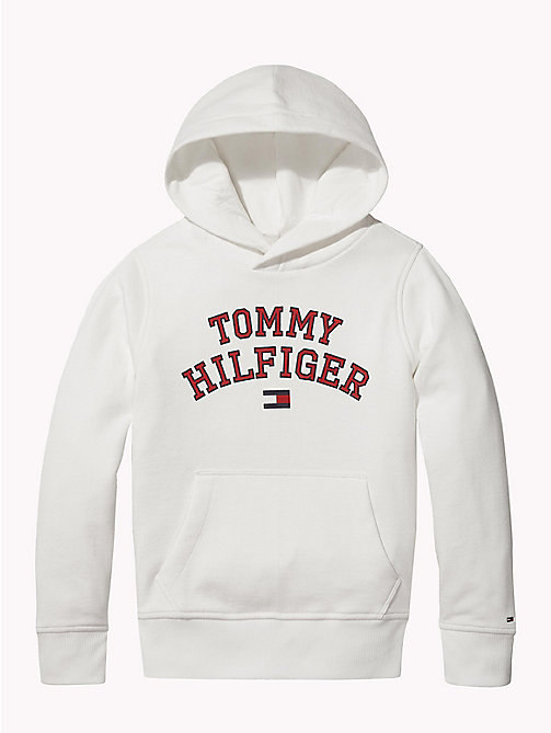 TOMMY HILFIGER Essentials Logo Hoody - BRIGHT WHITE - TOMMY HILFIGER Sweatshirts & Hoodies - main image