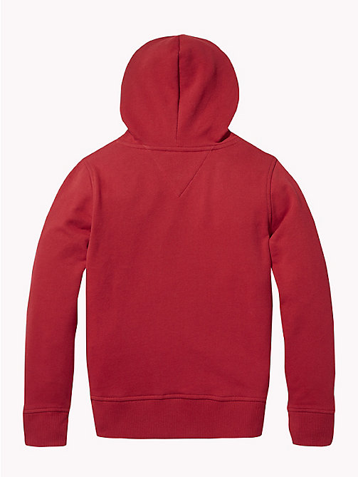 TOMMY HILFIGER Essentials Logo Hoody - APPLE RED - TOMMY HILFIGER Sweatshirts & Hoodies - detail image 1