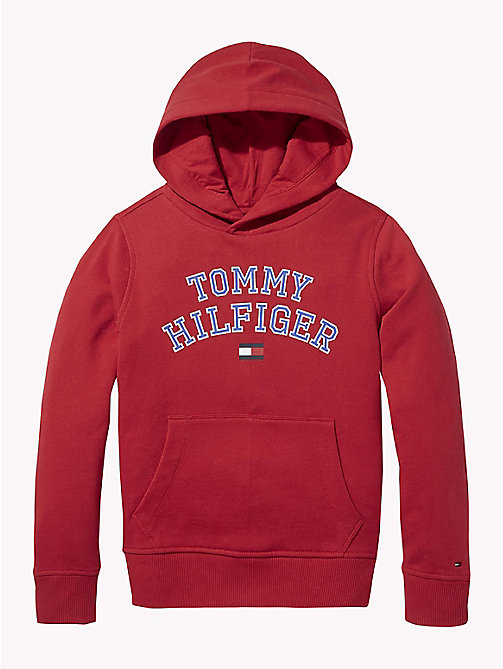 TOMMY HILFIGER Essentials hoodie met logo - APPLE RED - TOMMY HILFIGER Sweatshirts & Hoodies - main image