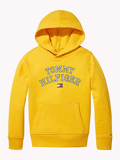 TOMMY HILFIGER Sweat logo à capuche Essentials - SPECTRA YELLOW - TOMMY HILFIGER Sweats - image principale