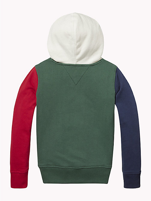 TOMMY HILFIGER Colour-Blocked Hoody - BLACK IRIS / MULTI - TOMMY HILFIGER Sweatshirts & Hoodies - detail image 1