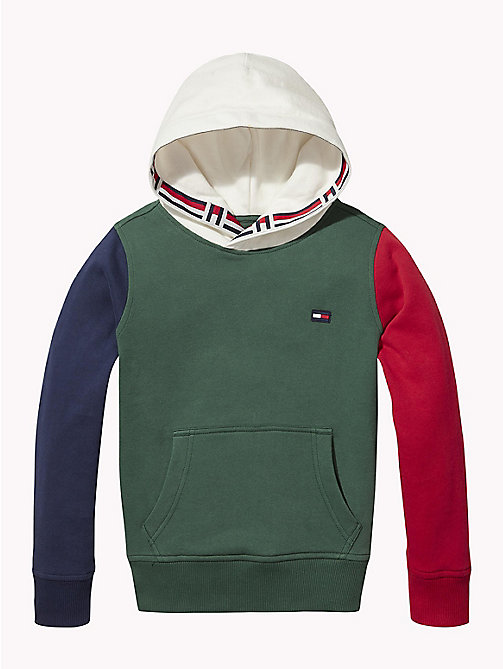TOMMY HILFIGER Colour-blocked hoodie - BLACK IRIS / MULTI - TOMMY HILFIGER Sweatshirts & Hoodies - main image