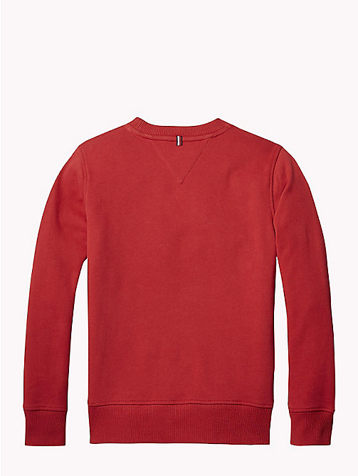 TOMMY HILFIGER Baseball Sweatshirt - APPLE RED - TOMMY HILFIGER Sweatshirts & Hoodies - detail image 1