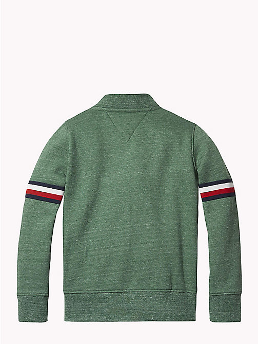 TOMMY HILFIGER Signature Zip Sweatshirt - HUNTER GREEN MELANGE - TOMMY HILFIGER Sweatshirts & Hoodies - detail image 1