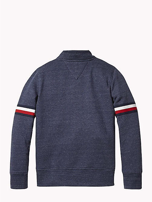 TOMMY HILFIGER Signature Zip Sweatshirt - BLACK IRIS HEATHER - TOMMY HILFIGER Sweatshirts & Hoodies - detail image 1