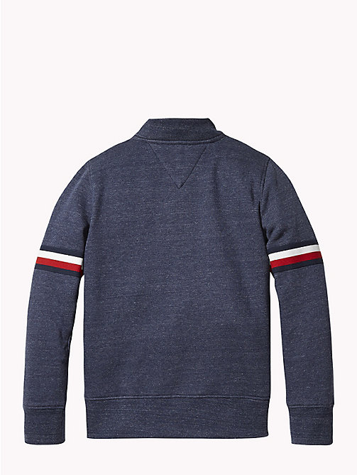TOMMY HILFIGER Signature Zip Sweatshirt - BLACK IRIS HEATHER - TOMMY HILFIGER Boys - detail image 1