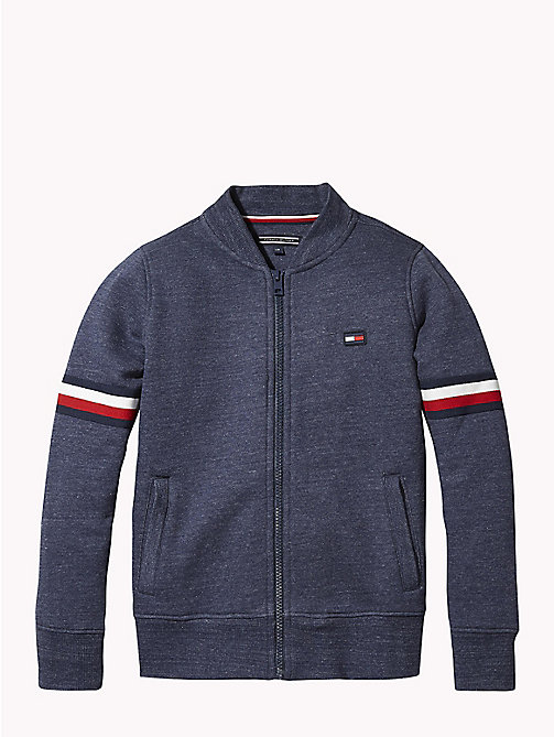 TOMMY HILFIGER Signature Zip Sweatshirt - BLACK IRIS HEATHER - TOMMY HILFIGER Boys - main image