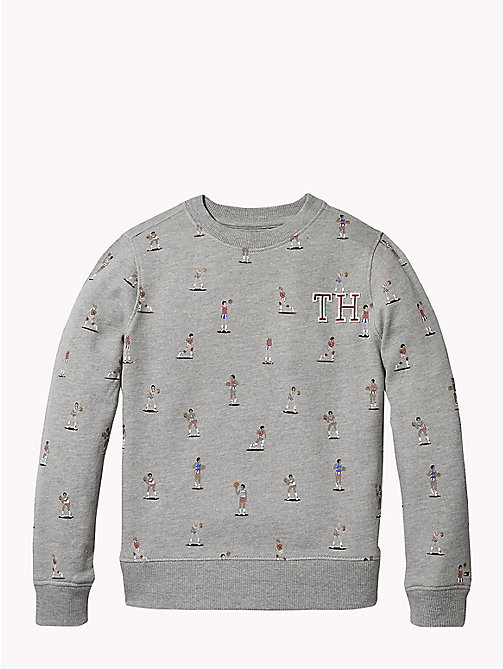 TOMMY HILFIGER Logo Sweatshirt - GREY HEATHER - TOMMY HILFIGER Sweatshirts & Hoodies - main image