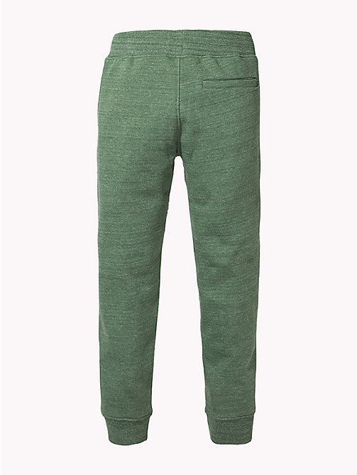 TOMMY HILFIGER Signature Drawstring Cuffed Joggers - HUNTER GREEN MELANGE - TOMMY HILFIGER Trousers & Shorts - detail image 1