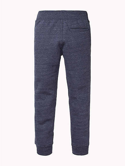 TOMMY HILFIGER Signature Drawstring Cuffed Joggers - BLACK IRIS HEATHER - TOMMY HILFIGER Trousers & Shorts - detail image 1