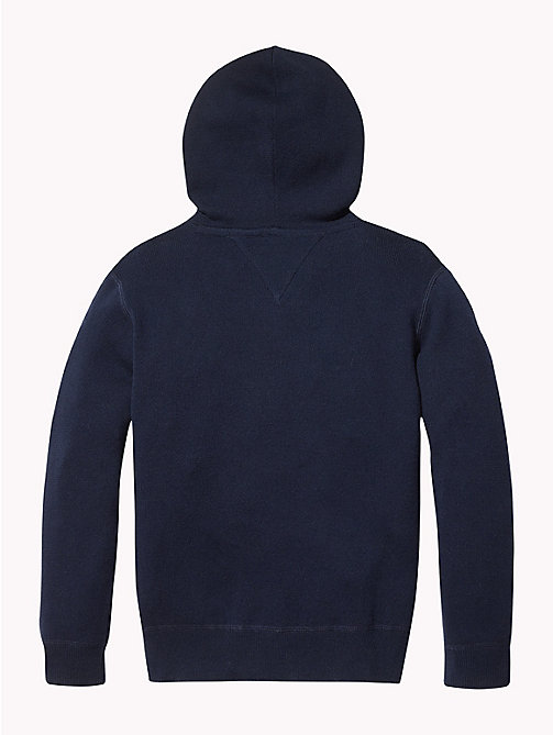 TOMMY HILFIGER Pure Cotton Logo Hoody - BLACK IRIS - TOMMY HILFIGER Boys - detail image 1