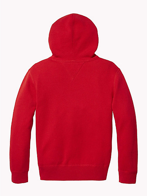 TOMMY HILFIGER Pure Cotton Logo Hoody - APPLE RED - TOMMY HILFIGER Knitwear - detail image 1