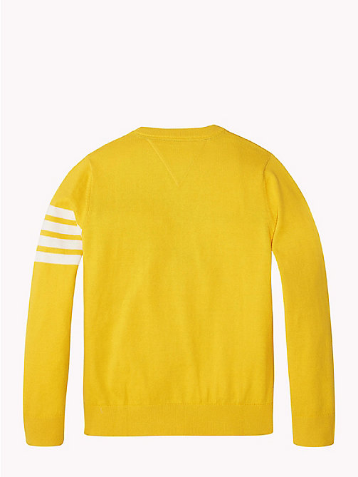 TOMMY HILFIGER Gestreifter Varsity-Pullover - SPECTRA YELLOW - TOMMY HILFIGER Jungen - main image 1