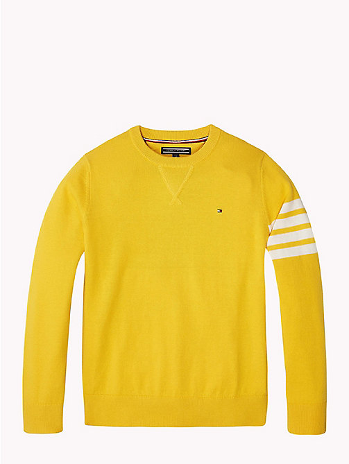TOMMY HILFIGER Gestreifter Varsity-Pullover - SPECTRA YELLOW - TOMMY HILFIGER Jungen - main image