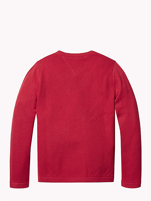 TOMMY HILFIGER Jacquard Logo Jumper - APPLE RED - TOMMY HILFIGER Knitwear - detail image 1