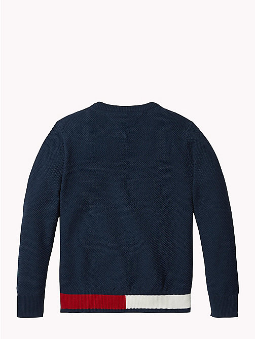 TOMMY HILFIGER Sweter z flagą Tommy Hilfiger - BLACK IRIS - TOMMY HILFIGER Chłopcy - detail image 1